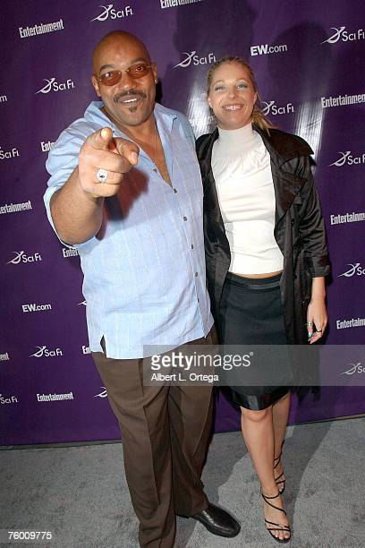 Actor Ken Foree and actress Hollie Stevens attends the Entertainment Weekly and the SciFi Channel 2007 Comic Con Party on July 27 2007 at the Hotel...