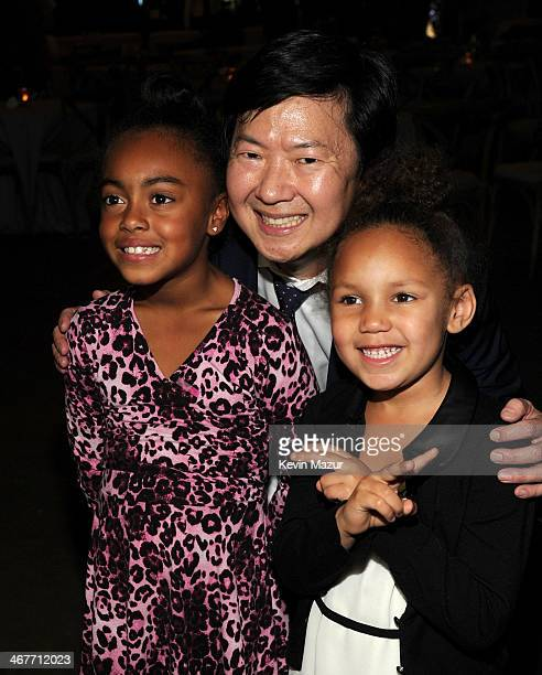 Actor Ken Jeong and Annalise Bishop attend Hollywood Stands Up To Cancer Event with contributors American Cancer Society and Bristol Myers Squibb...