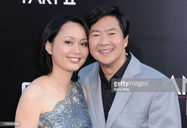 Actor Ken Jeong and his wife arrive at the Los Angeles Premiere The Hangover Part II at Grauman's Chinese Theatre on May 19 2011 in Hollywood...