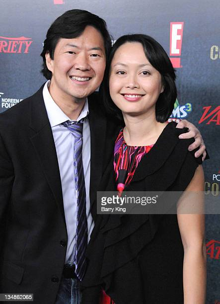 Actor Ken Jeong and his wife arrive at Variety's 2nd Annual Power of Comedy event held at The Hollywood Palladium on November 19 2011 in Los Angeles...