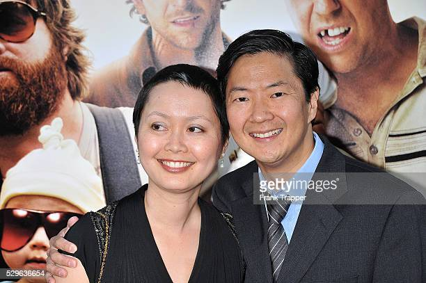Actor Ken Jeong and his wife Tran arrive at the premiere of Warner Bros Pictures The Hangover held at Grauman's Chinese Theater in Hollywood