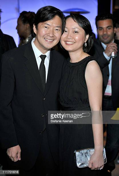 COVERAGE** Actor Ken Jeong and his wife Tran attends the ELLE Green Room at the 25th Film Independent Spirit Awards held at Nokia Theatre LA Live on...
