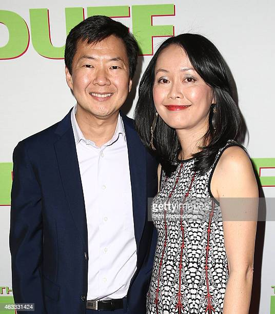 Actor Ken Jeong and his wife Tran Jeong attend the fan screening of CBS Films' 'The Duff' at TCL Chinese 6 Theatres on February 12 2015 in Hollywood...