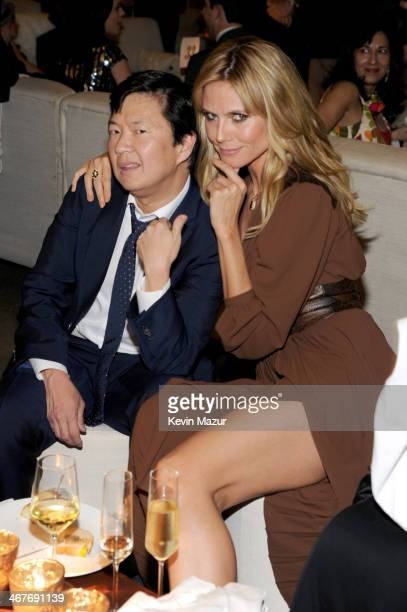 Actor Ken Jeong and model Heidi Klum attend Hollywood Stands Up To Cancer Event with contributors American Cancer Society and Bristol Myers Squibb...