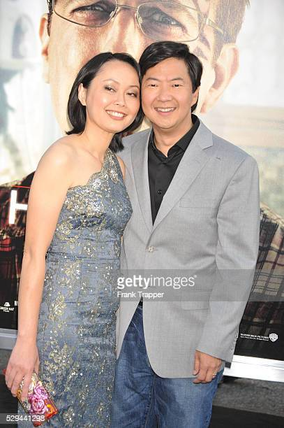 Actor Ken Jeong and wife arrive at the premiere of The Hangover II held at Grauman's Chinese Theater in Hollywood