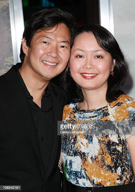 Actor Ken Jeong and wife Tran attend the premiere of Warner Bros Pictures' Due Date at Grauman's Chinese Theater on October 28 2010 in Los Angeles...