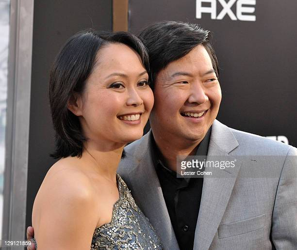 Actor Ken Jeong and wife Tran Ho arrive at The Hangover Part II Los Angeles Premiere at Grauman's Chinese Theatre on May 19 2011 in Hollywood...