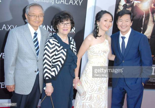 Actor Ken Jeong and wife Tran Jeong and parents arrive at the Los Angeles Premiere 'The Hangover Part III at Westwood Village Theatre on May 20 2013...
