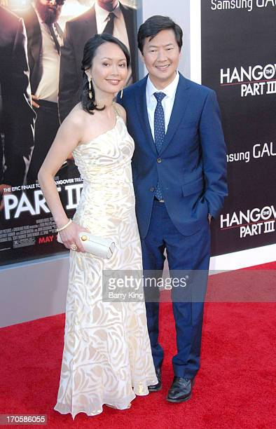 Actor Ken Jeong and wife Tran Jeong arrive at the Los Angeles Premiere 'The Hangover Part III at Westwood Village Theatre on May 20 2013 in Westwood...