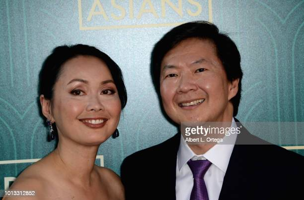 Actor Ken Jeong and wife Tran Jeong arrive for Warner Bros Pictures' Crazy Rich Asians Premiere held at TCL Chinese Theatre IMAX on August 7 2018 in...