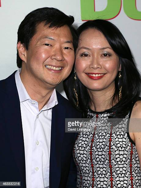 Actor Ken Jeong and wife Tran Jeong attend a fan screening of CBS Films' The Duff at TCL Chinese 6 Theatres on February 12 2015 in Hollywood...