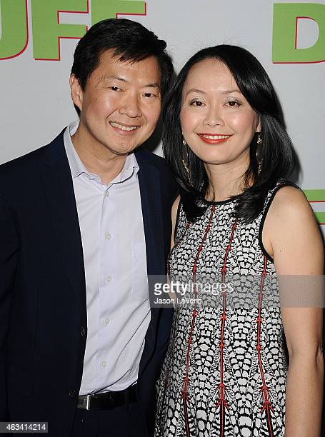 Actor Ken Jeong and wife Tran Jeong attend the premiere of The Duff at TCL Chinese 6 Theatres on February 12 2015 in Hollywood California