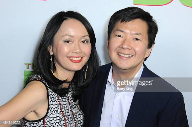 Actor Ken Jeong and wife Tran Jeong attend the premiere of 'The Duff' at TCL Chinese 6 Theatres on February 12 2015 in Hollywood California