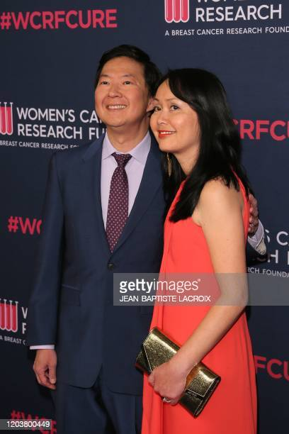 US actor Ken Jeong and wife Tran Jeong attend the Women's Cancer Research Fund's An Unforgettable Evening benefit gala at the Beverly Wilshire Hotel...