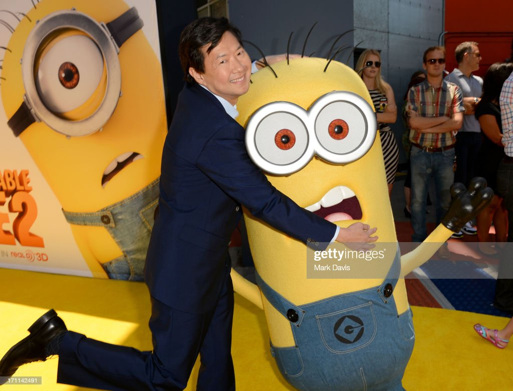 Actor Ken Jeong arrives at the premiere of Universal Pictures' 'Despicable Me 2' at Gibson Amphitheatre on June 22, 2013 in Universal City, California.