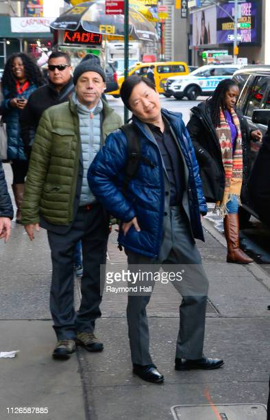 Actor Ken Jeong is seen outside Good Morning America on February 21 2019 in New York City