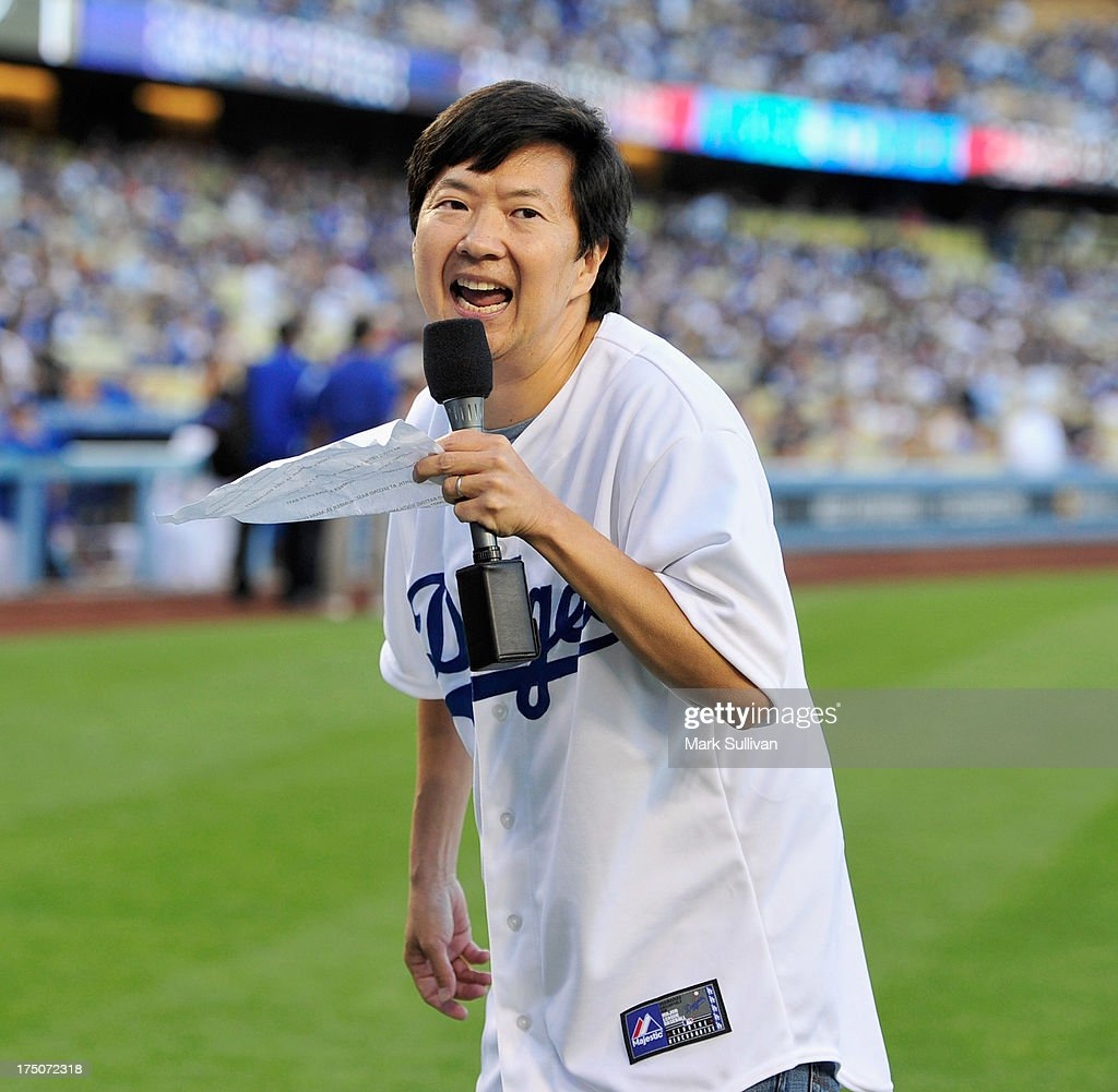 Celebrities At Los Angeles Dodgers Game - July 30, 2013 : News Photo