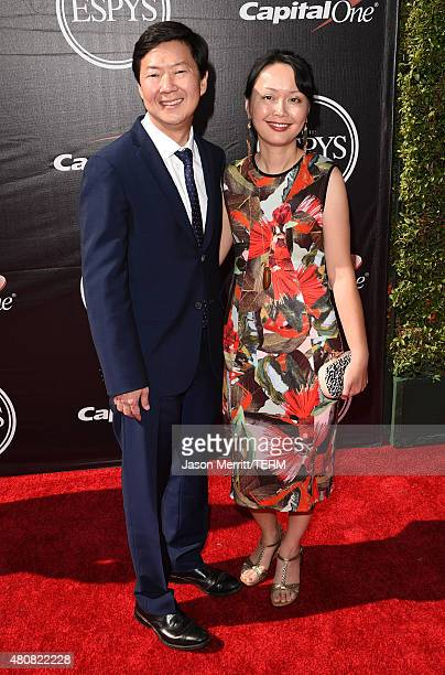 Actor Ken Jeong with wife Tran Jeong attends The 2015 ESPYS at Microsoft Theater on July 15 2015 in Los Angeles California