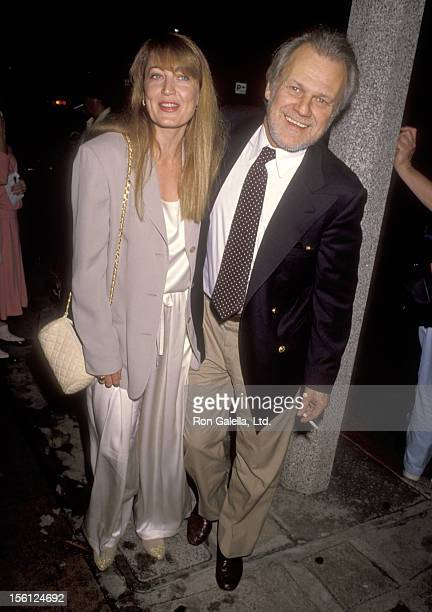 Actor Ken Kercheval and wife Ava Fox attend 'Andrea Marcovicci Opening Night Performance' on September 4 1990 at Westwood Playhouse in Westwood...