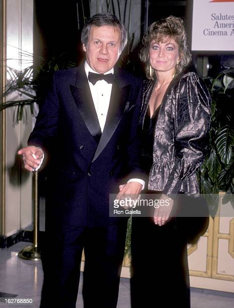 Actor Ken Kercheval and wife Ava Fox attend the Second Annual American Cinema Awards on November 22 1985 at Beverly Wilshire Hotel in Beverly Hills...