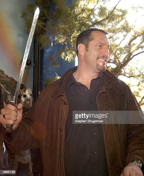 Actor Ken Kirzinger attends the wax figure unveiling and DVD release of Freddy Vs Jason at the Hollywood Wax Muesum on January 13 2004 in Hollywood...