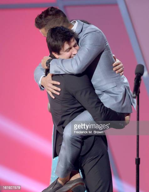 Actor Ken Marino accepts the award for Best Comedy Series from presenter Jai Rodriguez onstage at the 3rd Annual Streamy Awards at Hollywood...