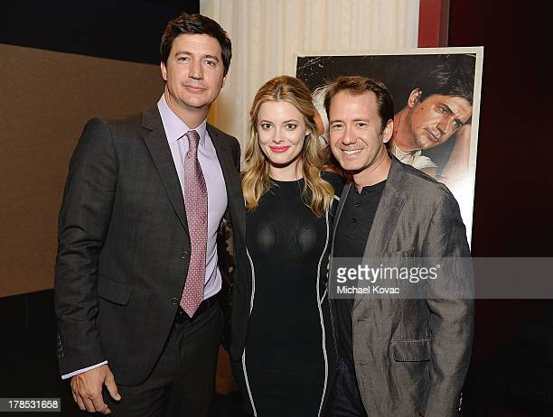 Actor Ken Marino actress Gillian Jacobs and director Jacob Vaughan attend the Los Angeles Premiere of Bad Milo at ArcLight Cinemas on August 29 2013...