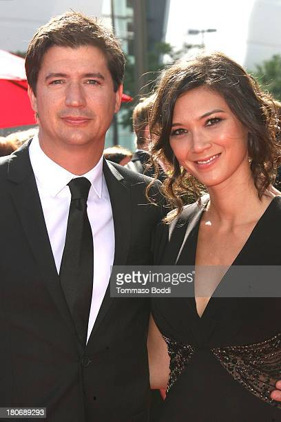 Actor Ken Marino and guest attend the 2013 Creative Arts Emmy Awards Ceremony held at the Nokia Theatre LA Live on September 15 2013 in Los Angeles...