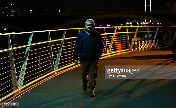 Actor Ken Stott on the set of 100 Streets in Battersea on August 21 2014 in London England