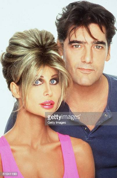 Actor Ken Wahl And Model Shane Barbi Pose September 25 1997 In Los Angeles Ca Shane And Her Sister Sia Have Written A Book Dying To Be Healthy About...