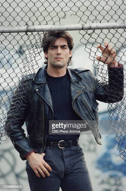 Actor Ken Wahl stars as Vinnie Terranova in the CBS television series Wise Guy