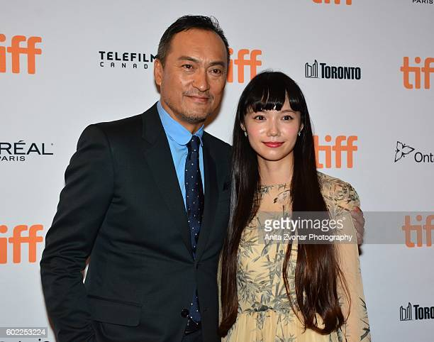 Actor Ken Watanabe and actress Aoi Miyazaki attend the premiere of 'Rage' during the 2016 Toronto International Film Festival at The Elgin on...