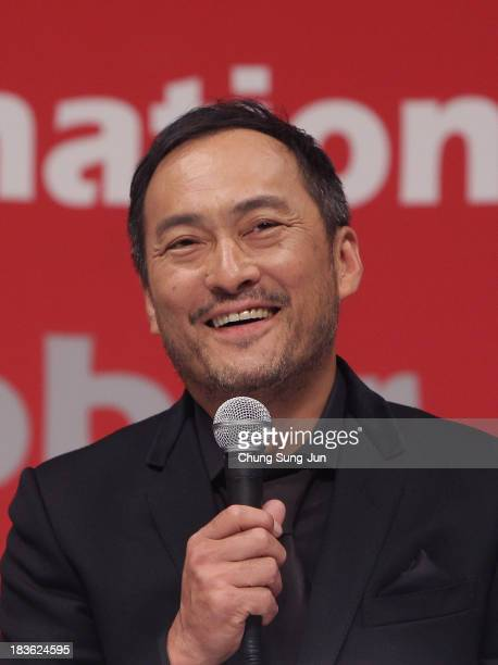 Actor Ken Watanabe atends the Gala Presentation 'Unforgiven' at the BIFF Hill during 18th Busan International Film Festival on October 8 2013 in...