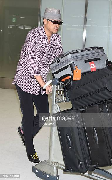 Actor Ken Watanabe is seen upon arrival at Narita International Airport on July 15 2015 in Narita Japan