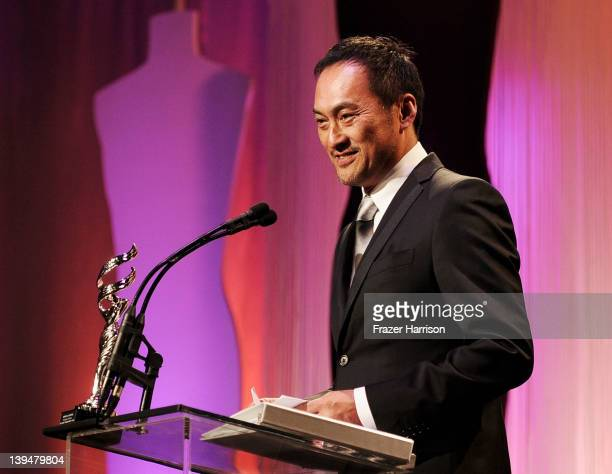 Actor Ken Watanabe onstage during the 14th Annual Costume Designers Guild Awards With Presenting Sponsor Lacoste held at The Beverly Hilton hotel on...