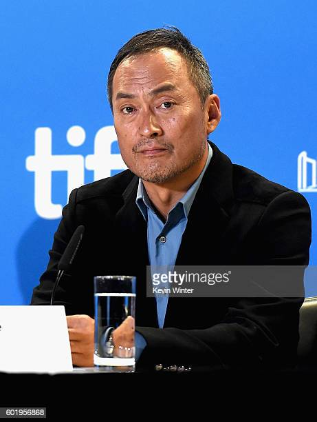 """Actor Ken Watanabe speaks onstage at the """"Rage"""" press conference during the 2016 Toronto International Film Festival at TIFF Bell Lightbox on..."""