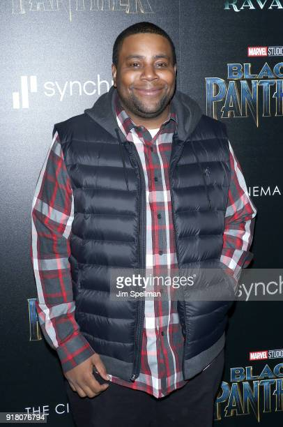Actor Kenan Thompson attends the screening of Marvel Studios' 'Black Panther' hosted by The Cinema Society with Ravage Wines and Synchrony at Museum...