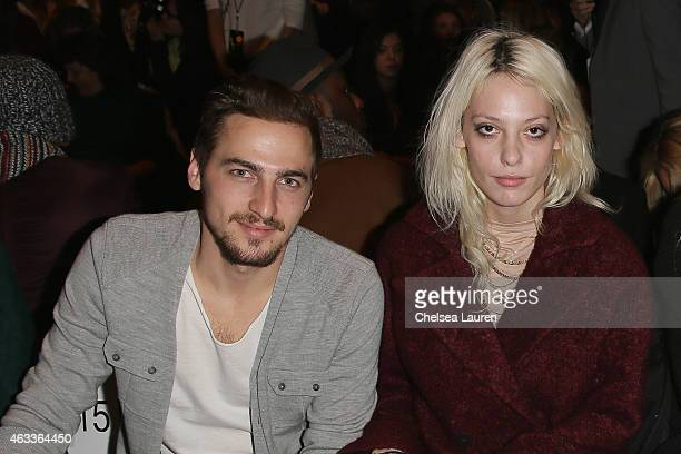Actor Kendall Schmidt and model Cory Kennedy attend the Mongol fashion show during Mercedes-Benz Fashion Week Fall 2015 at The Theatre at Lincoln...