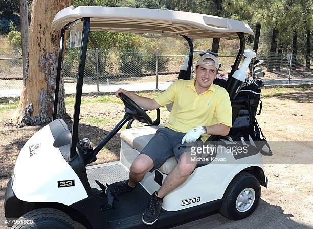 Actor Kendall Schmidt attends the Los Angeles Police Memorial Foundation Celebrity Golf Tournament at Brookside Golf Club on June 20 2015 in Pasadena...
