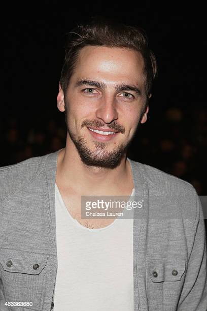 Actor Kendall Schmidt attends the Mongol fashion show during MercedesBenz Fashion Week Fall 2015 at The Theatre at Lincoln Center on February 13 2015...