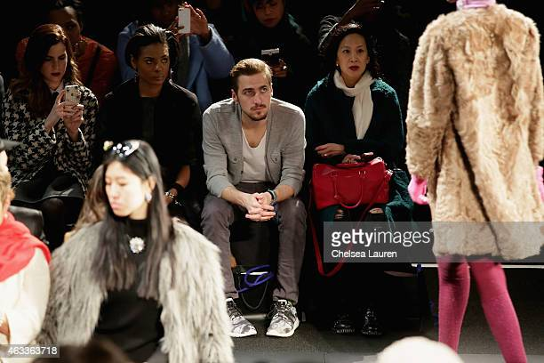 Actor Kendall Schmidt attends the Mongol fashion show during Mercedes-Benz Fashion Week Fall 2015 at The Theatre at Lincoln Center on February 13,...