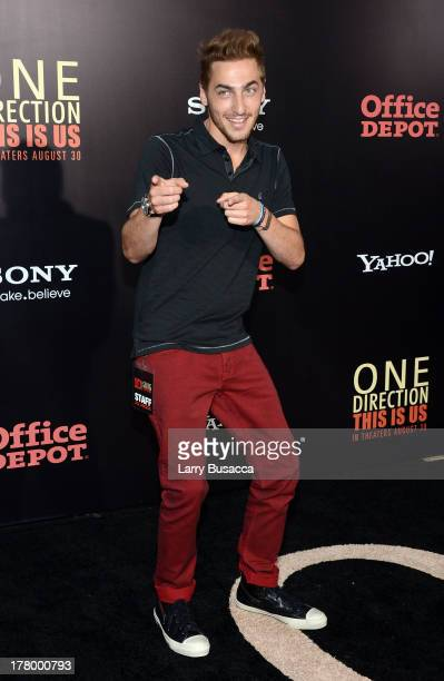 Actor Kendall Schmidt attends the New York premiere of 'One Direction This Is Us' at the Ziegfeld Theater on August 26 2013 in New York City