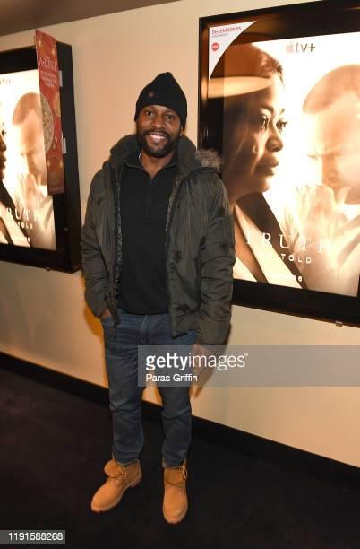 Actor Kendrick Cross attends Apple TV's Truth Be Told Atlanta screening at AMC Parkway Pointe on December 02 2019 in Atlanta Georgia