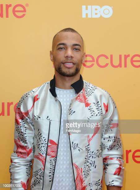 Actor Kendrick Sampson attends HBO's Insecure Block Party at Banc of California Stadium on July 21 2018 in Los Angeles California