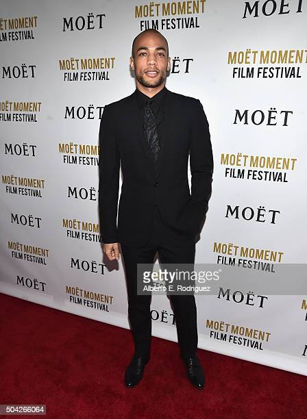 Actor Kendrick Sampson attends Moet Chandon Celebrates 25 Years at the Golden Globes on January 8 2016 in West Hollywood California