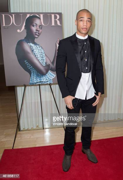 Actor Kendrick Sampson attends the DuJour Magazine celebrates great performances issue featuring 12 Years A Slave Golden Globe Nominee Lupita Nyong'o...