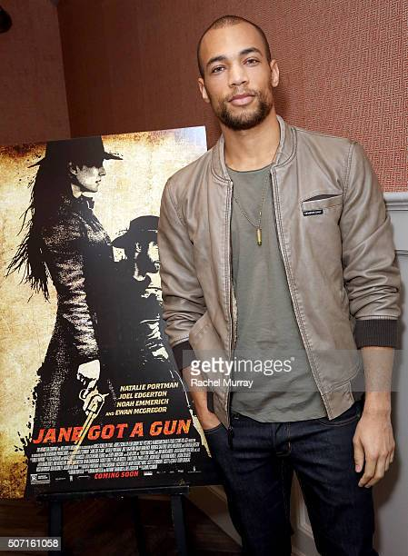 Actor Kendrick Sampson attends the JANE GOT A GUN Los Angeles Tastemaker Screening at Soho House on January 27 2016 in West Hollywood California