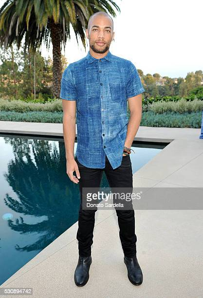 Actor Kendrick Sampson attends the launch of Studio 189 for yooxcom Collection at a private residence on May 11 2016 in Beverly Hills California