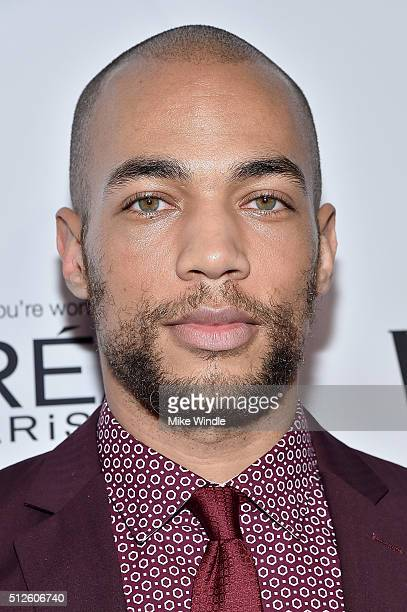 Actor Kendrick Sampson attends Vanity Fair L'Oreal Paris Hailee Steinfeld host DJ Night at Palihouse Holloway on February 26 2016 in West Hollywood...