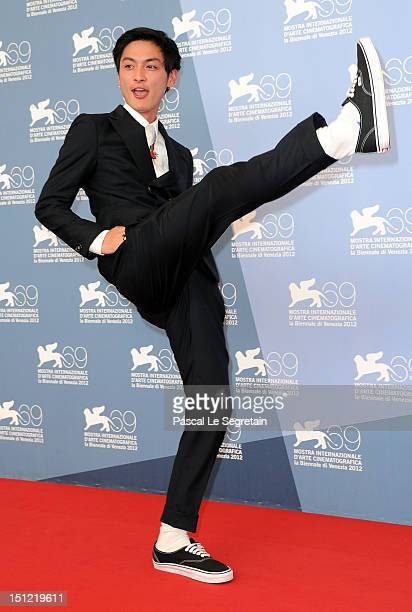 Actor Kengo Kora attends the 'The Millennial Rapture' Photocall during the 69th Venice Film Festival at the Palazzo del Casino on September 4 2012 in...